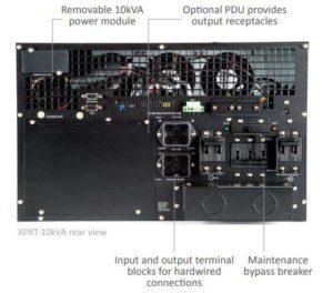 10kVA dual voltage UPS rear